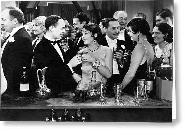 High Society Cocktail Party - End Of Prohibition 1933 Greeting Card by Daniel Hagerman