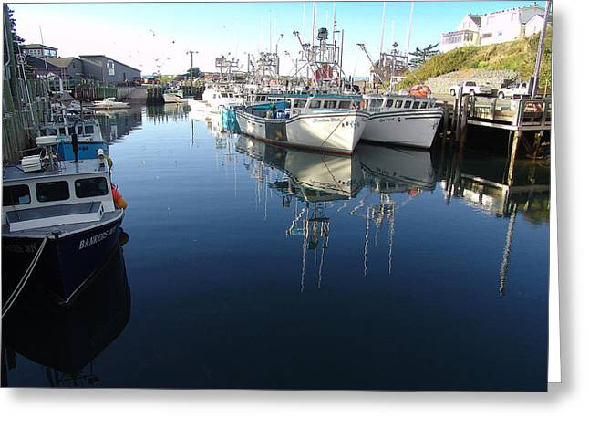 High Tide At Hall's Harbour Greeting Card by George Cousins