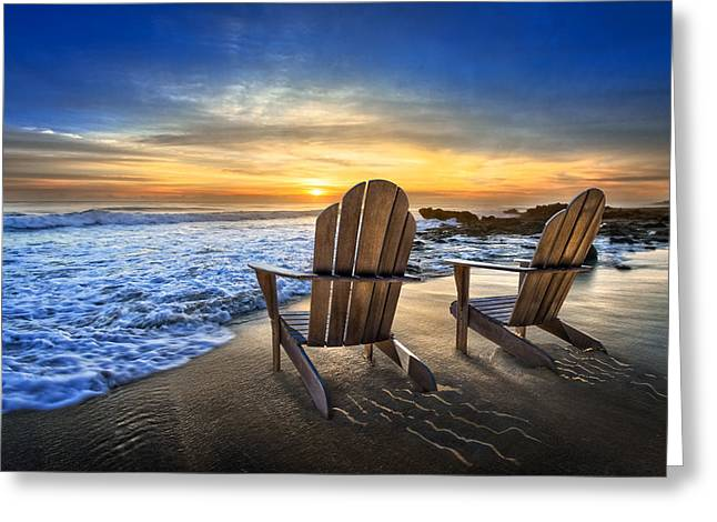 Ocean Art. Beach Decor Greeting Cards - High Tide Greeting Card by Debra and Dave Vanderlaan