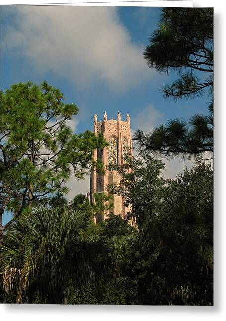 Colrful Greeting Cards - High Tower Greeting Card by Peg Urban