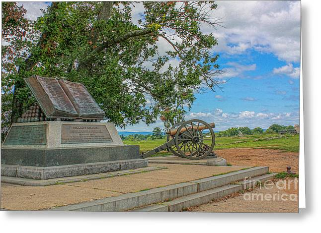 High Water Mark Of The Rebellion Monument Gettysburg Greeting Card by Randy Steele