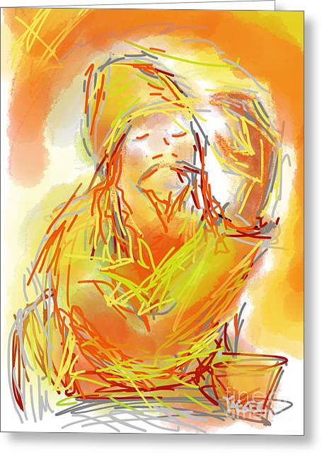 Consume Drawings Greeting Cards - Higher Power Greeting Card by Robert Yaeger