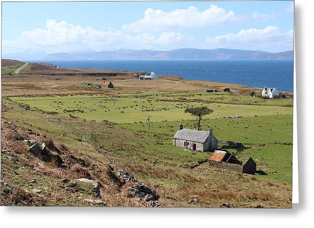 Outbuildings Greeting Cards - Highland Crofting- Applecross Greeting Card by Dean Stoker