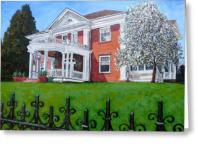 House Work Greeting Cards - Highland Homestead Greeting Card by Tom Roderick