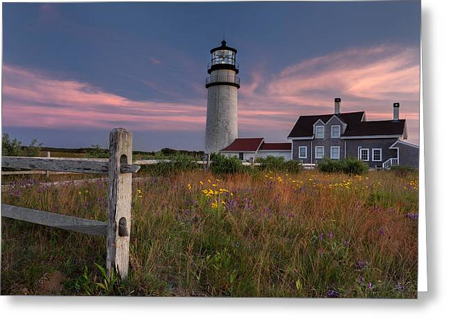 Atlantic Ocean Greeting Cards - Highland Light Cape Cod 2015 Greeting Card by Bill Wakeley