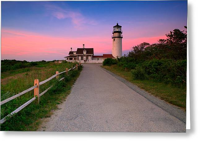 Cape Neddick Lighthouse Greeting Cards - Highland Light Greeting Card by Emmanuel Panagiotakis