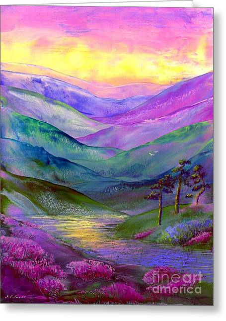 Oriental Greeting Cards - Highland Light Greeting Card by Jane Small