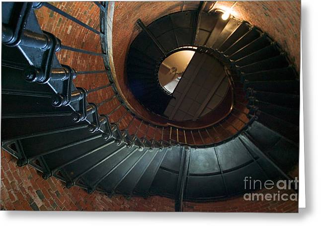 Highland Lighthouse stairs Cape Cod Greeting Card by Matt Suess