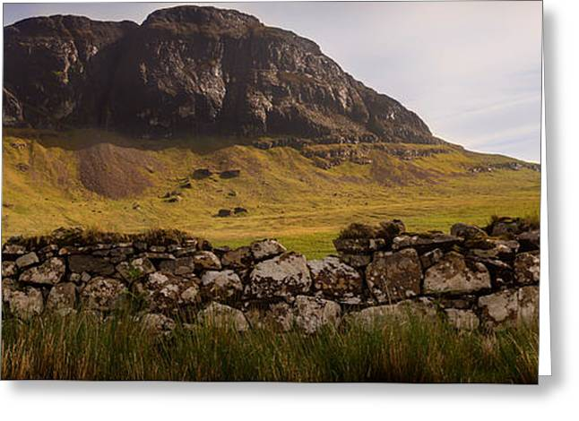 Field. Cloud Greeting Cards - Highland Of Scotland Panorama Greeting Card by Katja S Verhoeven