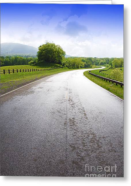 Scenic Greeting Cards - Highland Scenic Highway Route 150 Greeting Card by Thomas R Fletcher