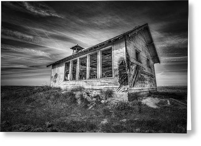 Highland School House Greeting Card by Spencer McDonald
