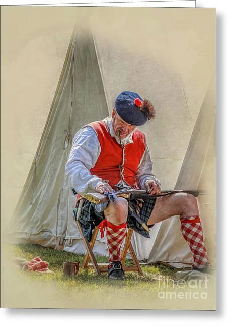 Highlander Camp Life Greeting Card by Randy Steele
