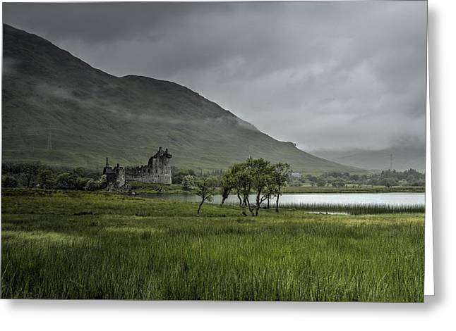 Kilchurn Castle Greeting Cards - Highlands Castle Greeting Card by Chris Whittle