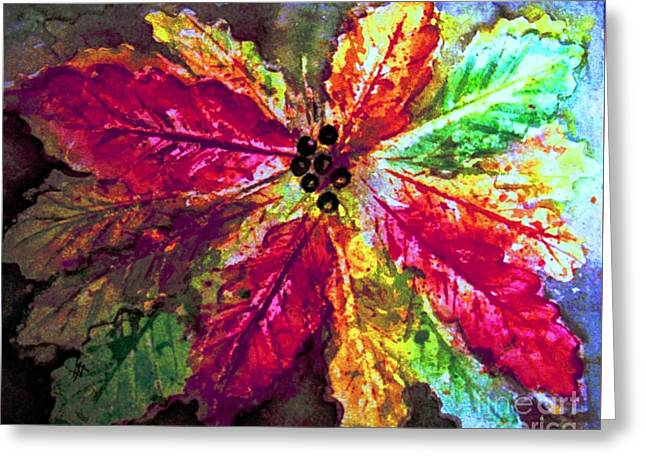 Shades Of Red Greeting Cards - Highlighting Fall Splendor Greeting Card by Hazel Holland