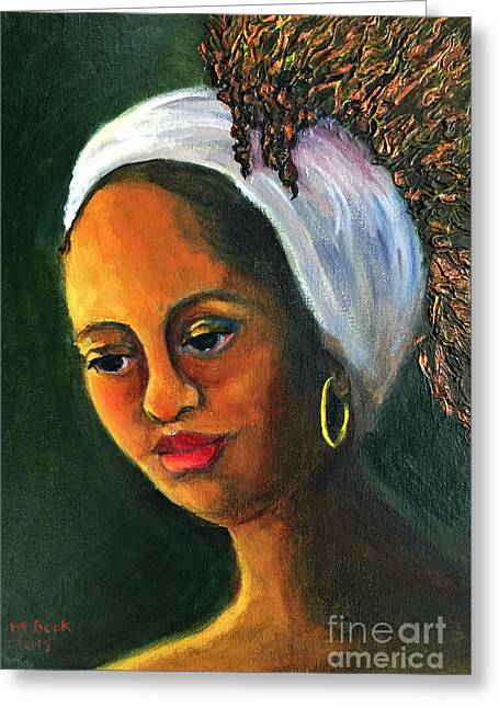 Highlights In Yellow-women Of Color Series Greeting Card by Marlene Book
