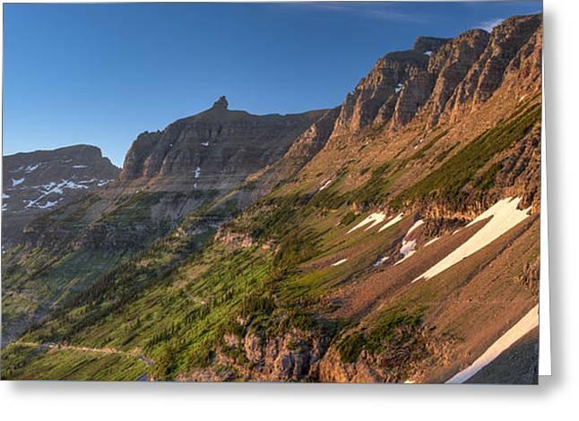 West Glacier Greeting Cards - Highline Trail Glacier N P Greeting Card by Steve Gadomski