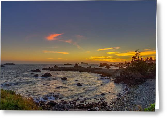 California Ocean Photography Greeting Cards - Highway 101 California Sunset Greeting Card by Scott McGuire