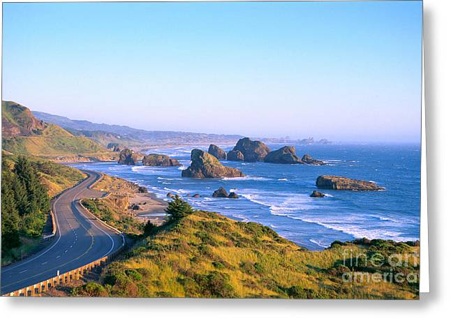 Oregon Pistol River Greeting Cards - Highway 101 Greeting Card by Greg Vaughn - Printscapes
