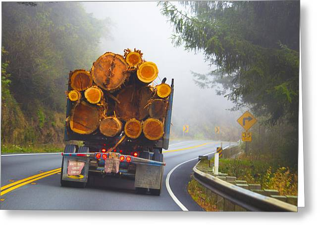 Tn Greeting Cards - Highway 101 South Coast Lumber Company Greeting Card by TN Fairey
