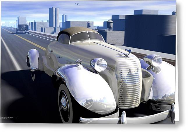 Cords Greeting Cards - Highway Greeting Card by Cynthia Decker