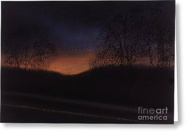 Highway Pastels Greeting Cards - Highway Greeting Card by Leigh Trifari