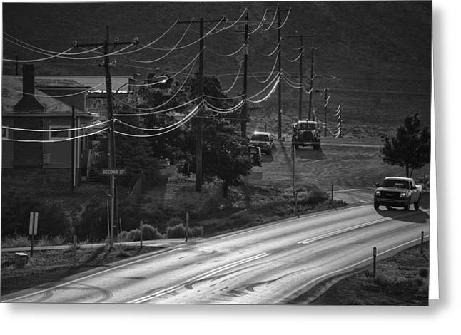 Usa Photographs Greeting Cards - Highway Noir Greeting Card by Christian Heeb