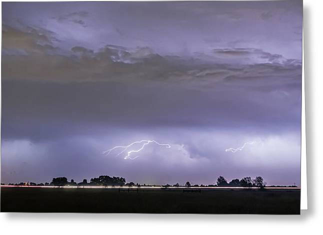 Flash Greeting Cards - Highway Storm Greeting Card by James BO  Insogna