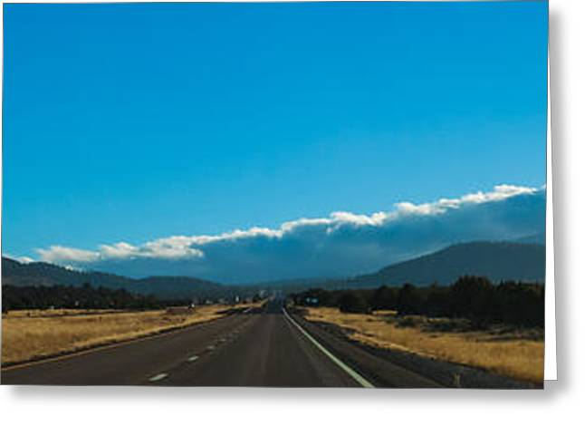 Us Open Photographs Greeting Cards - Highway to Flagstaff Greeting Card by Ed Gleichman