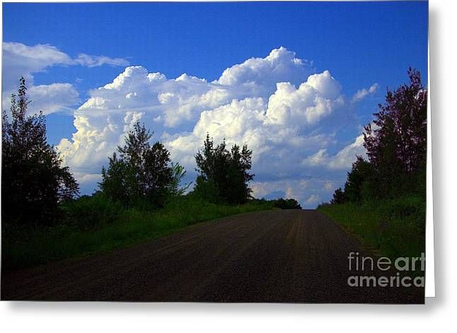 Gravel Road Greeting Cards - Highway To Heaven Greeting Card by The Stone Age