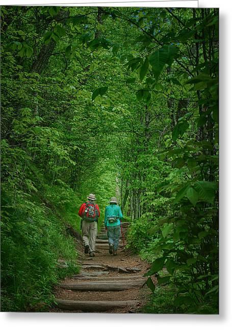 Hiking - Appalachian Trail Greeting Card by Nikolyn McDonald