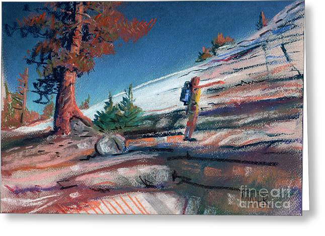 Domes Pastels Greeting Cards - Hiking Lembert Dome Greeting Card by Donald Maier