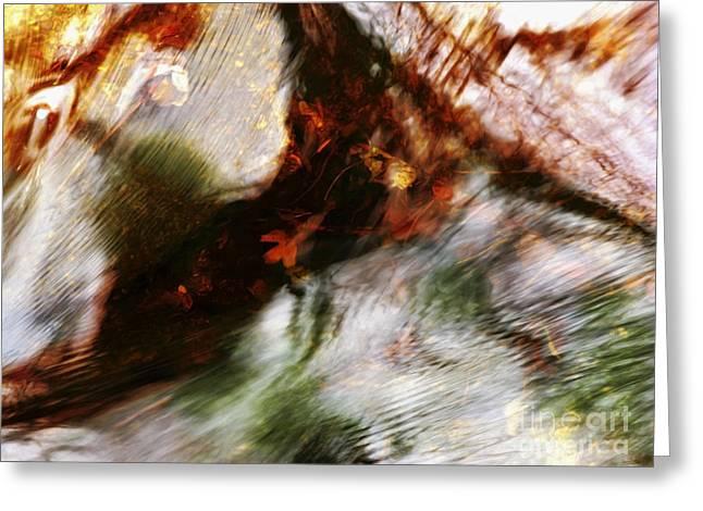 Glassy Lake Surface Greeting Cards - Hikiwarekega Greeting Card by Joanne Baldaia - Printscapes