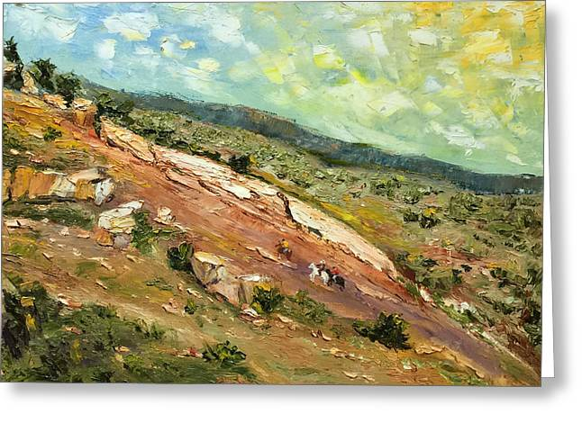 Overcast Day Greeting Cards - Hill Country Hills Greeting Card by Daniel Xiao