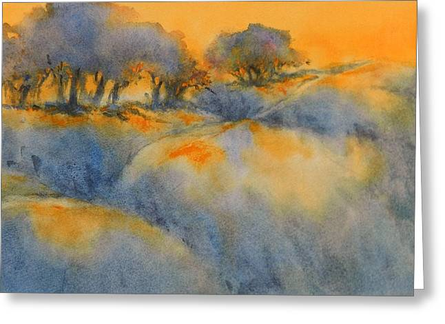 Greeting Cards - Hill Country Sunrise No 1 Greeting Card by Virgil Carter
