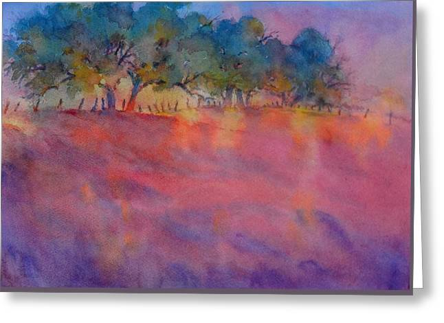 Greeting Cards - Hill Country Sunset No 1 Greeting Card by Virgil Carter