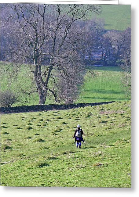 Derbyshire Greeting Cards - Hill Walking Greeting Card by Rod Johnson
