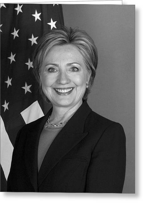 First-lady Photographs Greeting Cards - Hillary Clinton Greeting Card by War Is Hell Store