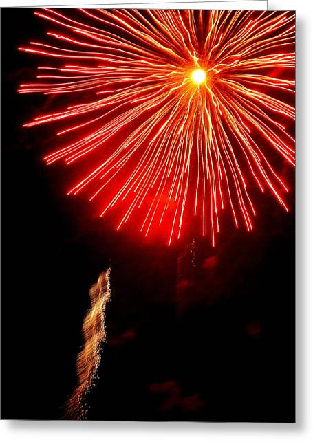 Hilliard Greeting Cards - Hilliard Ohio Firework 2  Greeting Card by Beth Akerman