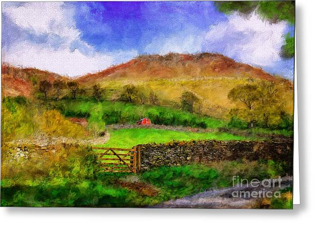 Hills And Dales Greeting Card by Lois Bryan