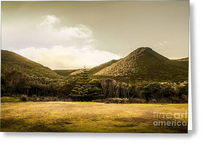 Hills And Fields Of Trial Harbour Greeting Card by Jorgo Photography - Wall Art Gallery