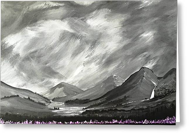 Hills And Heather  Greeting Card by Scott Wilmot
