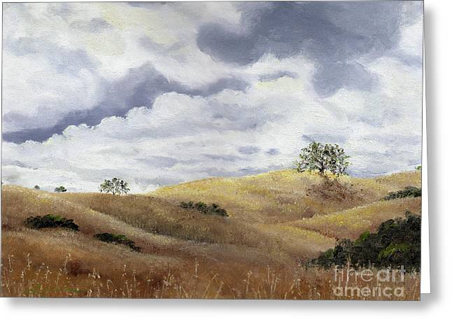California Hills Greeting Cards - Hills of Fremont Older Greeting Card by Laura Iverson