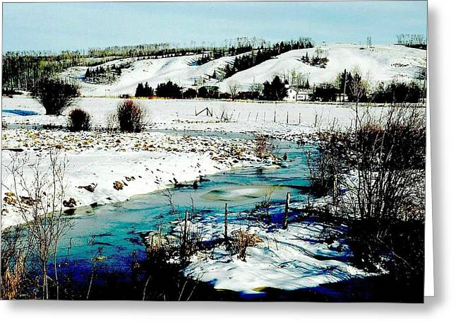 Shirley Sirois  Greeting Cards - Hills of Tawatinaw Greeting Card by Shirley Sirois