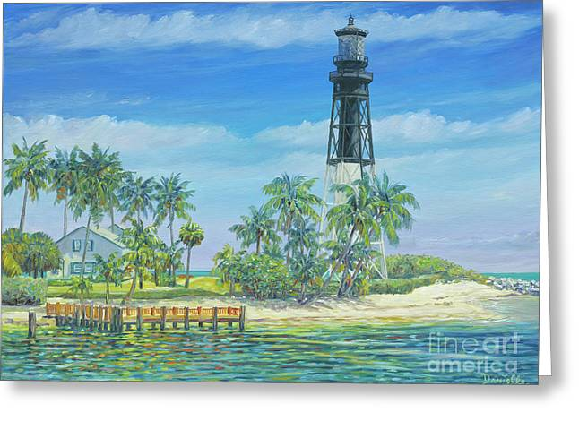 Hillsboro Lighthouse Greeting Card by Danielle Perry