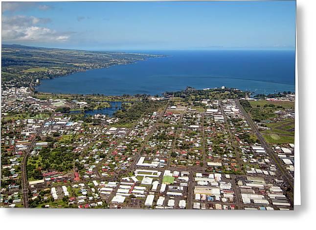 Hilo Greeting Cards - Hilo City Hawaii Greeting Card by Daniel Hagerman