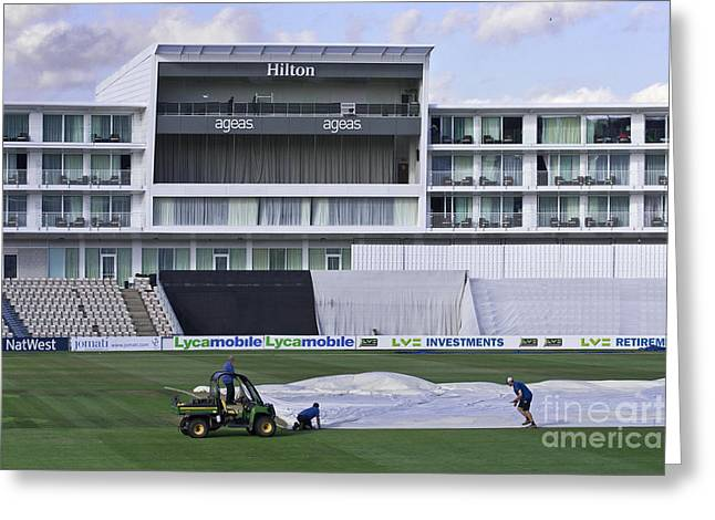 Empty Chairs Greeting Cards - Hilton Ageas Cricket Greeting Card by Terri  Waters