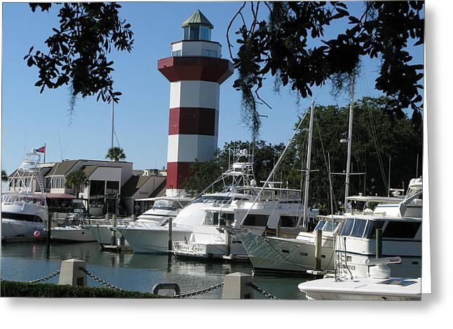 Hilton Head South Carolina Light House Greeting Card by Richard Singleton