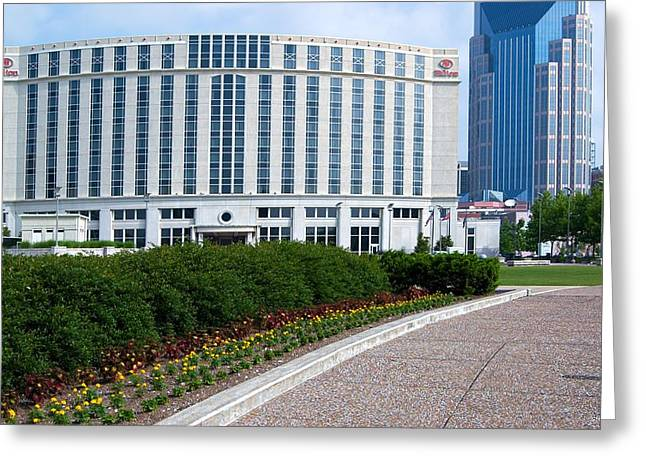 Tn Greeting Cards - Hilton Nashville Tennessee Greeting Card by Bob Pardue
