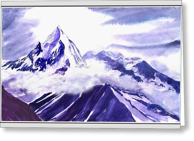 Anil Nene Greeting Cards - Himalaya Greeting Card by Anil Nene