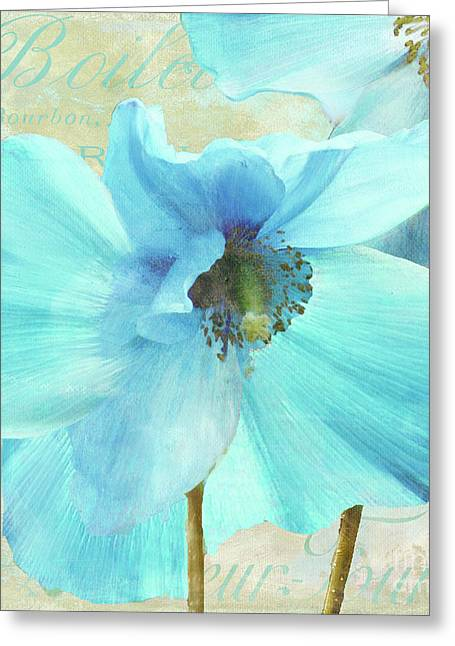 Himalayan Greeting Cards - Himalayan Blue Poppy Greeting Card by Mindy Sommers